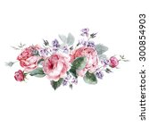 classical vintage floral... | Shutterstock . vector #300854903