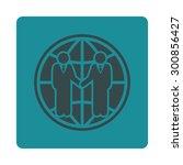 global partnership icon. vector ... | Shutterstock .eps vector #300856427