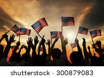 group of people waving armenian ...   Shutterstock . vector #300879083