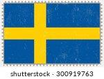 grunge sweden flag.swedish flag ... | Shutterstock .eps vector #300919763