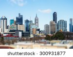 view of melbourne city ... | Shutterstock . vector #300931877