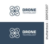 drone quadcopter logo template. ... | Shutterstock .eps vector #300935207