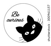 funny cat card design cute cat...   Shutterstock .eps vector #300961157