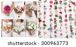 collage of photos from the... | Shutterstock . vector #300963773