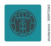 global partnership icon. glyph... | Shutterstock . vector #300971063
