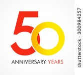 50 years old celebrating... | Shutterstock .eps vector #300984257