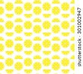 split lemon pattern.citrus...   Shutterstock .eps vector #301002947