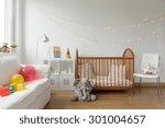 photo of white and cosy newborn ... | Shutterstock . vector #301004657