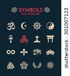 vector flat icon set   symbols