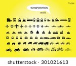 transport icons.transportation .... | Shutterstock .eps vector #301021613