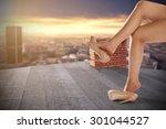 woman legs  | Shutterstock . vector #301044527