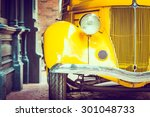 headlight lamp  vintage car  ... | Shutterstock . vector #301048733