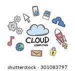 digitally generated cloud... | Shutterstock .eps vector #301083797