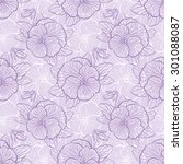 seamless floral pattern with... | Shutterstock . vector #301088087