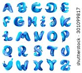 ecology english alphabet with... | Shutterstock .eps vector #301099817