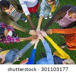 team corporate teamwork... | Shutterstock . vector #301103177