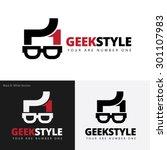geek style vector logo | Shutterstock .eps vector #301107983