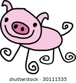 a images  of  pig in... | Shutterstock . vector #30111535