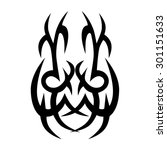 tribal tattoo vector design... | Shutterstock .eps vector #301151633
