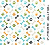 seamless vector pattern.... | Shutterstock .eps vector #301154063