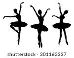 ballerinas silhouettes ... | Shutterstock .eps vector #301162337