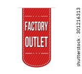 factory outlet banner design... | Shutterstock .eps vector #301216313