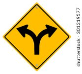 yellow sign with arrows. vector ... | Shutterstock .eps vector #301219577