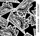 seamless black and white... | Shutterstock .eps vector #301220867