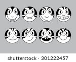 vector circle faces with... | Shutterstock .eps vector #301222457