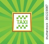 image of taxi logo in golden...
