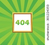 text 404 in golden frame  on...