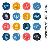 love icon set   Shutterstock .eps vector #301230803