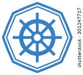 ship steering wheel flat modern ... | Shutterstock .eps vector #301247717