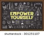 doodles about empower yourself... | Shutterstock .eps vector #301251107
