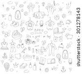 set of baby shower design... | Shutterstock .eps vector #301278143