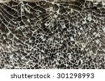broken glass background  | Shutterstock . vector #301298993