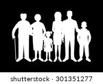 big happy family. father ...   Shutterstock . vector #301351277