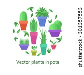 vector collection of plants in... | Shutterstock .eps vector #301357553