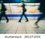 Subway Train Leaving Station....