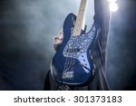 Close Up On An Electric Bass...