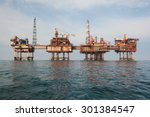 oil platform at day | Shutterstock . vector #301384547