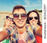 friendship  leisure  summer ... | Shutterstock . vector #301412597