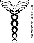caduceus black | Shutterstock . vector #30141268