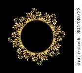 golden luxury style... | Shutterstock .eps vector #301430723