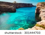 the blue lagoon on comino... | Shutterstock . vector #301444703