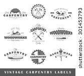 set of vintage labels carpentry....   Shutterstock . vector #301453793