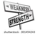 strength or weakness being... | Shutterstock . vector #301454243