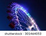 Ferris Wheel With Multi Colore...
