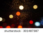 decorative neon lights in soft... | Shutterstock . vector #301487387