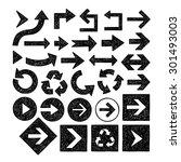 sketched black arrows set | Shutterstock .eps vector #301493003